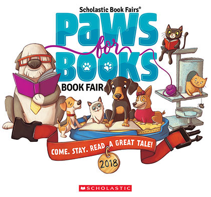 Paws for Book Book Fair Logo