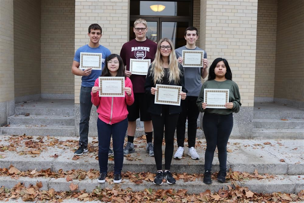 Jr./Sr. High School Students of the Month November 2019