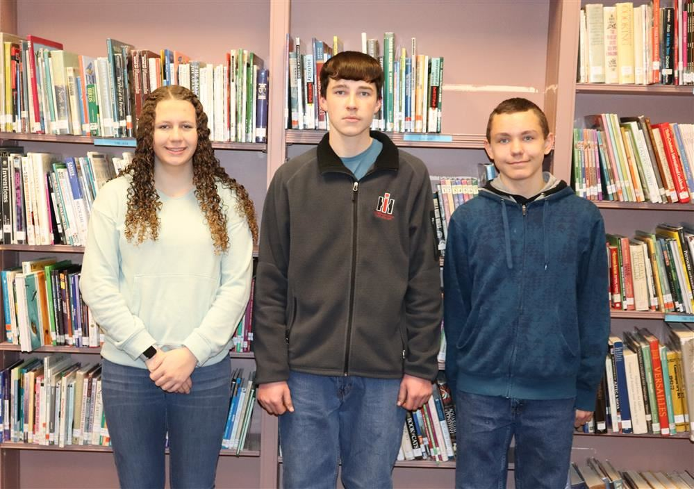 Jr./Sr. High School Students of the Month February 2020