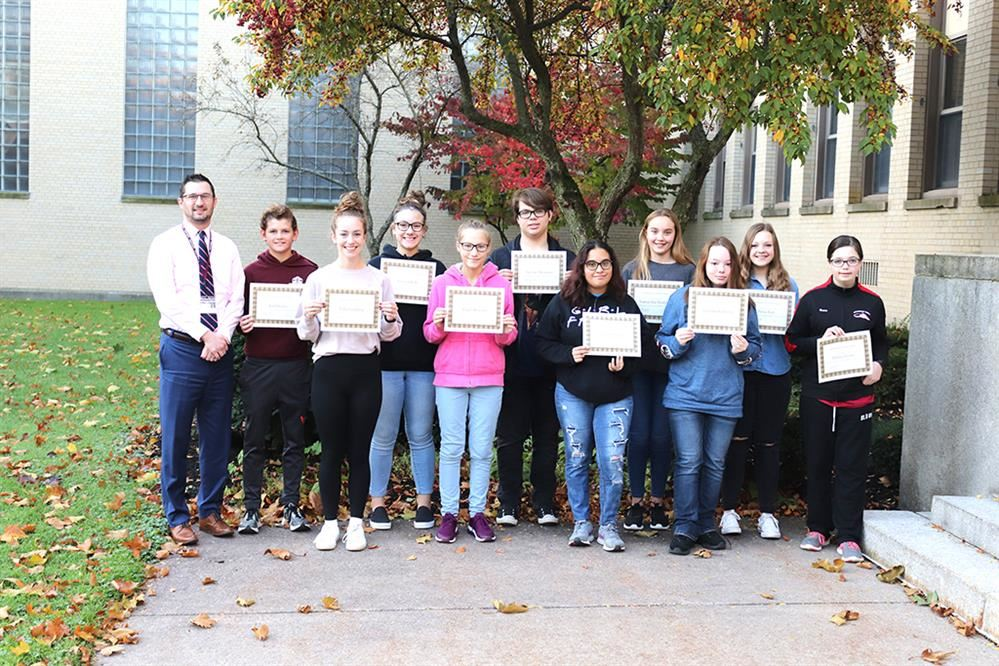 Jr./Sr. High School Students of the Month October 2019