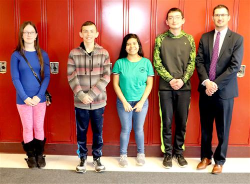 March April Junior High Students of the Month