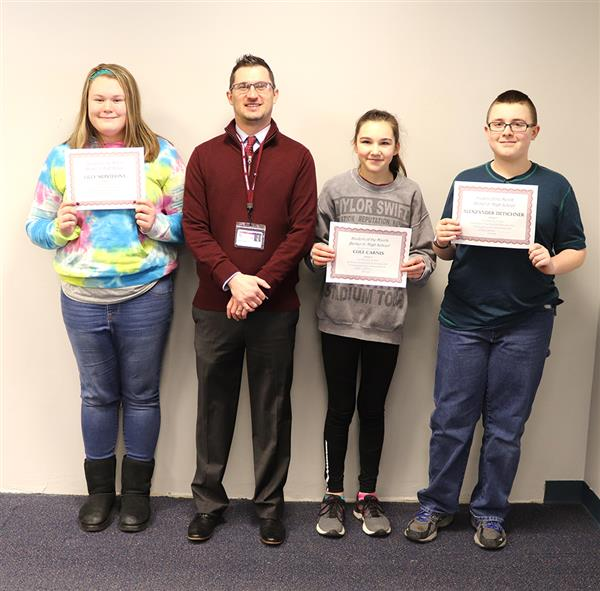 Junior High School Student of the Month January February 2019