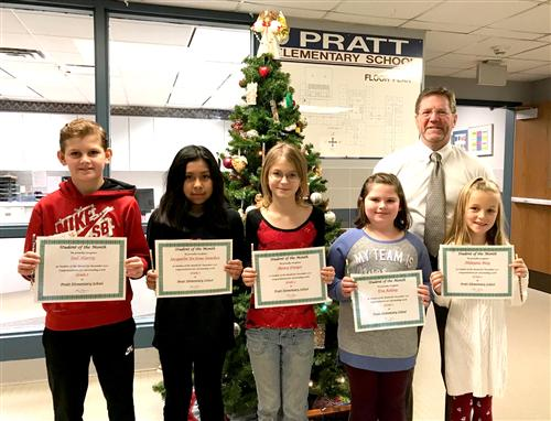Pratt Elementary Student of the Month December 2017