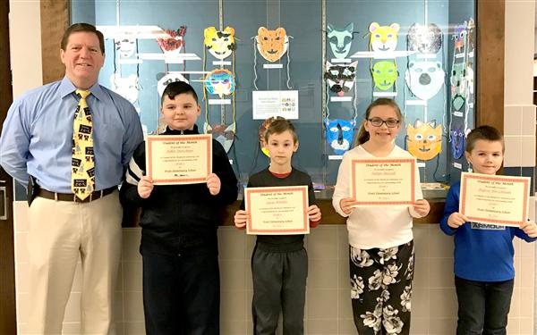 Pratt Elementary Students of the Month February 2018