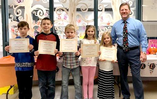 Pratt Elementary Students of the Month November 2017