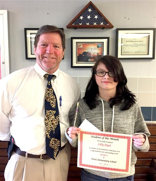 Pratt Elementary Student of the Month February 2018